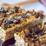 Tahini Chocolate Granola Bars