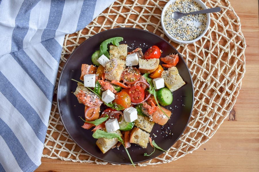 Everything Bagel Panzanella