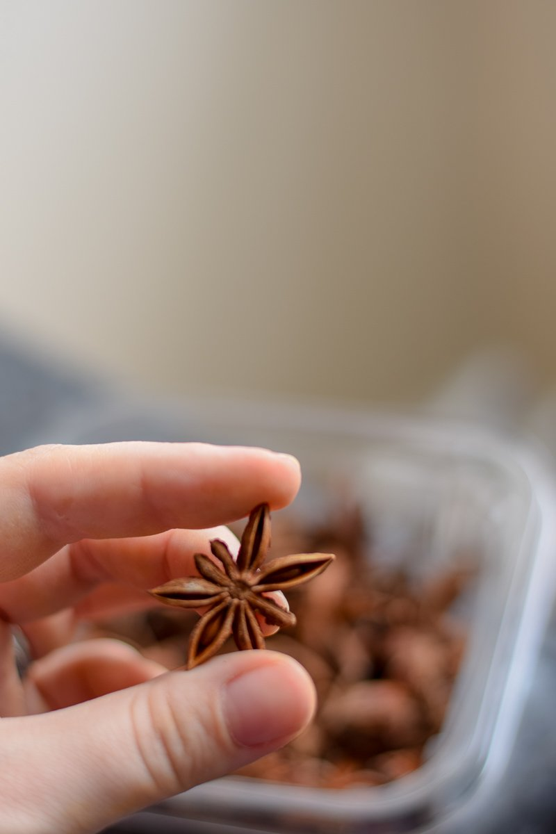 Star anise - a key ingredient in five spice banana bread
