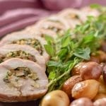 Turkey Roulade with Mushrooms, Walnuts, and Herbs